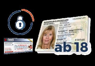 Personalausweis, Screenshot x-check-Gateway und Schloss-Symbol