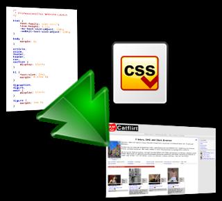 Symbolischer Übergang einer CSS-Datei in eine Website