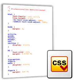 Screenshot CSS-Datei und CSS-Logo