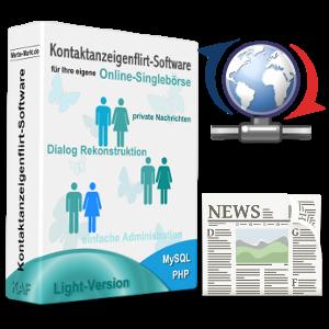 Flirt-Script-Box, Aktualisierungs- und Zeitungs-Symbol