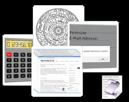 Screenshots kostenloser JavaScript-Code-Schnipsel bei Werbe-Markt.de