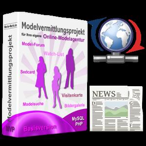 Model-Portal-Box mit Update- und Newspaper-Symbol