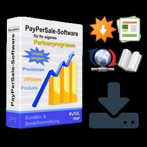 Partnerprogramm-Box mit Symbolen für die unterschiedlichen Downloads