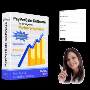 Partnerprogramm-Box, Screenshot Kontaktformular, helfende Dame