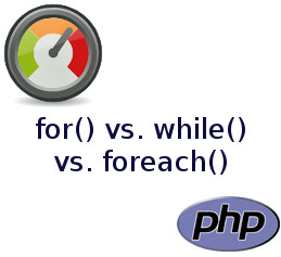 for() vs. while() vs. foreach()