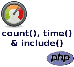 count(), time() & include()