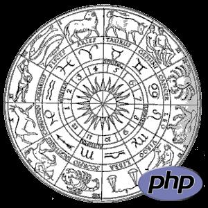 Tierkreis und PHP-Logo