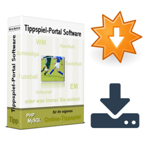 Tippspiel-Box mit Download-Icons