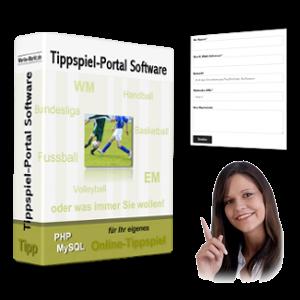 Tippspiel-Script-Box, Screenshot Kontaktformular und helfende Dame