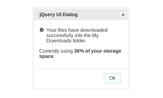 Screenshot jQuery UI Dialog