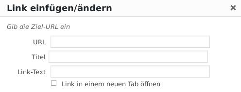 Screenshot Link einfügen/ändern nach Installation des Plugins