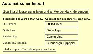 Screenshot: Ergebnisse importieren