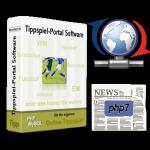 Tippspiel-Box, Aktualisierungs- und Zeitungssymbol, PHP7-Logo