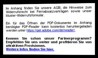 Screenshot E-Mail zur Bestellbestätigung mit Hinweis auf das Partnerprogramm