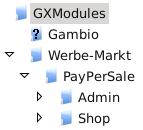 Verzeichnisstruktur im GXModules-Verzeichnis
