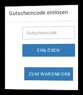 Screenshot Gutschein-Einlösung im Onlineshop