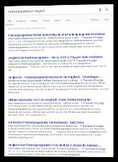 Screenshot Suchergebnis nach Vergleichsportalen für Affiliate-Programme