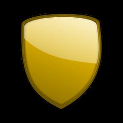 Goldener Schutzschild