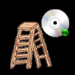 Leiter und Software-CD