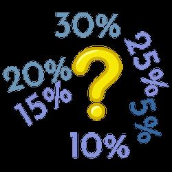 10%, 15%, 25%, 20%, 30%, 5%?