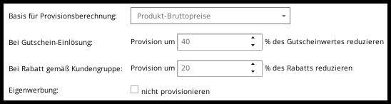 Produkt-Bruttopreise als Basis der Provisionsberechnung