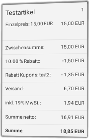 Kombination von Kundengruppen-Rabatt und Rabatt-Gutschein im Gambio-Checkout