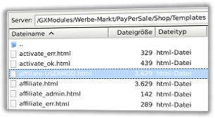 affiliate.html und affiliate-USERMOD.html in FileZilla