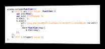 JavaScript-Code zur Validierung der eingegebenen Empfehlungsgeber-ID