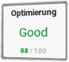PageSpeed (Mobil) ESOVita nach Optimierung: 88
