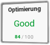 PageSpeed (Mobil) Stamp Corner nach Optimierung: 84