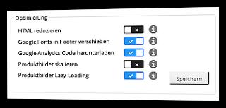 Optimierungen HTML reduzieren und Produktbilder skalieren deaktiviert auf der Bearbeiten-Seite des Moduls im Gambio-Admin
