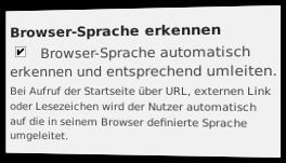 Browser-Sprache automatisch erkennen und entsprechend umleiten.