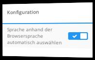 Sprache anhand der Browsersprache automatisch auswählen