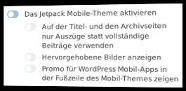 Jetpack Mobile-Theme aktivieren