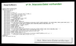 Button Aus .htaccess-Datei entfernen