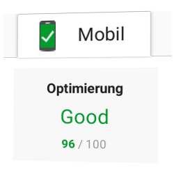 PageSpeed-Mobil Optimierung: 96/100