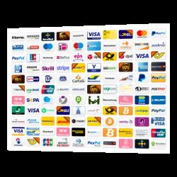 Logos von Payment-Gateway-Anbietern