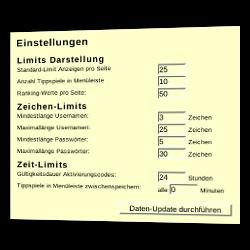 Limits Darstellung, Zeichen-Limits und Zeit-Limits