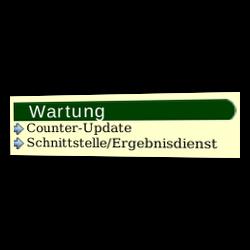 Wartung: Counter-Update und Schnittstelle/Ergebnisdienst