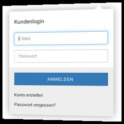 Gambio-Kundenlogin: E-Mail, Passwort, Anmelden