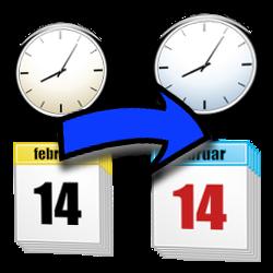Kalender und Pfeil als Aktualisierungs-Intervall