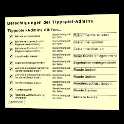 Berechtigungen der Tippspiel-Admins: Tippspiel-Admins dürfen...