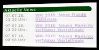 Aktuelle News - WM 2018: Neue Runde Halbfinale, WM 2018: Neues Ranking verfügbar Viertelfinale und nochmal WM 2018: Neues Ranking verfügbar Viertelfinale