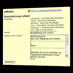 E-Mails > Empfehlungs-E-Mail