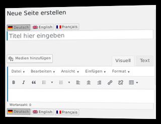 Neue Seite erstellen in WordPress mit Sprachschalter für Titel und Text