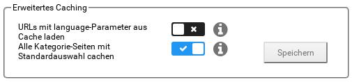 Alle Kategorie-Seiten mit Standardauswahl cachen