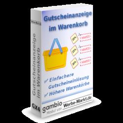 Gutscheinanzeige im Warenkorb ✅ Einfachere Gutscheineinlösung ✅ Höhere Warenkörbe, Modul für Gambio GX3 Version 3.5.1+ von Werbe-Markt.de