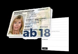 Muster-Personalausweis, ab 18, Kontaktformular