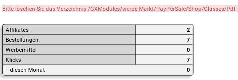 Bitte löschen Sie das Verzeichnis /GXModules/werbe-Markt/PayPerSale/Shop/Classes/Pdf