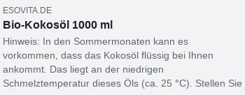 Facebook-Snippet: Bio-Kokosöl 1000 ml